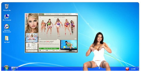 Nice feature of virtual babes